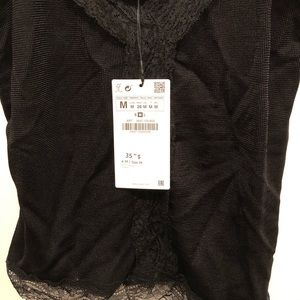 Zara Tops - NWT 2 for $12 Black camisole with lace